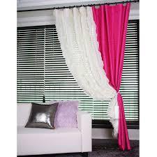 Magenta Curtain Panels Eye Catching Pink Taffeta Decorative Drapery Curtain Panel