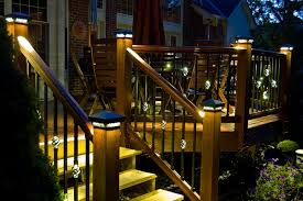 solar lights for deck posts homezanin deck post lighting unsilenced