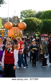 thanksgiving at disneyland amusement park in california usa stock