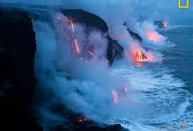 sea papel vulcao havai parede nature wallpaper hd for mobile