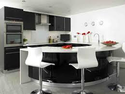 white bar stools with silver chrome base and curvy black glossy