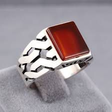 red jewelry rings images Handmade jewelry red ruby stone 925 sterling silver men 39 s ring jpg