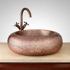 copper bathroom vessel sink signature hardware
