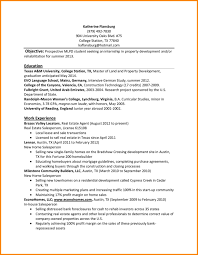 resume examples for college internship