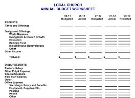 church budget template example best 25 monthly budget template