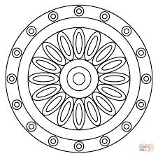 mandala flower pattern coloring free printable