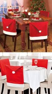 Christmas Chair Back Covers Christmas Dining Chair Covers Accessories Santa Hat Xmas Party