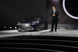 lexus lf sedan lexus lf fc hydrogen fuel cell car shown at 2016 naias
