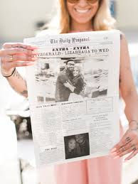 newspaper wedding program handcrafted mismatched backyard wedding ruffled