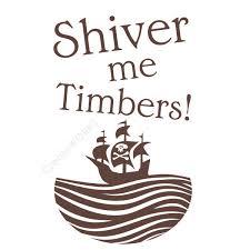 pirate ship children wall sticker wall art shiver timbers h620k