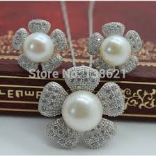 natural freshwater pearl necklace images Buy new sunflowers 100 real pearl jewelry sets natural freshwater jpg