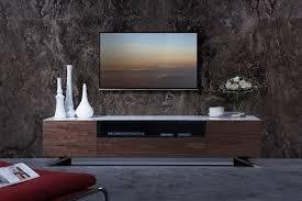 Contemporary Tv Table Gillian Contemporary White U0026 Walnut Tv Stand