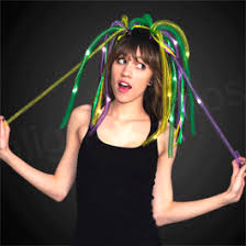 mardi gras headbands purple mardi gras noodle headband w leds mardi gras