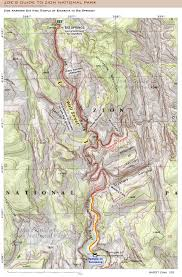 Map Of Zion National Park Joe U0027s Guide To Zion National Park Zion Narrows Day Hike Map