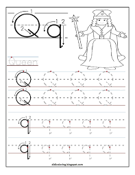 free printable worksheet letter q for your child to learn and