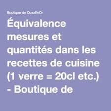 unité de mesure cuisine équivalence mesure cuisine inspiration de conception de maison