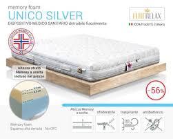 materasso memory silver materassi king size avec unico silver materasso memory sfoderabile