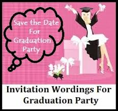 wording for graduation announcements sle invitation wordings graduation announcement party