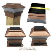 Solar Lights On Fence Posts by Led Solar Powered Copper Plastic Outdoor Post Deck Square Fence