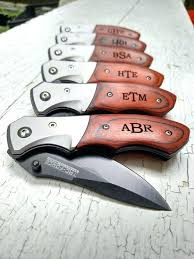 groomsmen knife pocket knife with engraving bhloom co