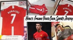 how to frame your own sports jersey the cheap way youtube