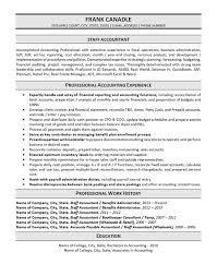 Resume Sample For Accountant Position by Staff Accountant Resume Example