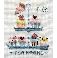 butterfly tea room cross stitch kit by stitchkits