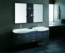 sink bathroom vanity set in pearl white contemporary bathroom