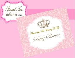 baby shower thank you sign pink princess party pink baby
