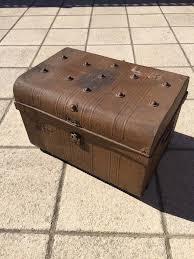 vintage metal steamer trunk coffee table in walmer kent gumtree