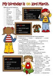 129 free esl prepositions of time worksheets