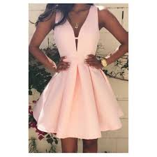party dresses online women fashion casual dress v neck sleeveless pink evening party