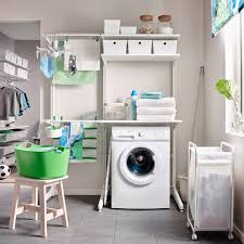 Storage Ideas For Laundry Room Small Walk In Laundry Room Ideas With Two Tiered White