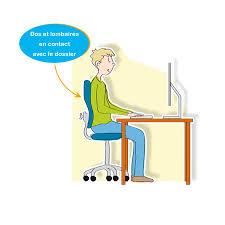position assise bureau coaching en cas d assise prolongée lombalgie