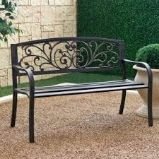 Outdoor Furniture Iron by Iron Garden Benches Foter