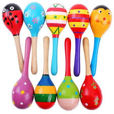 wooden party favors 1pcs wooden maraca wood rattles kids musical party favor child