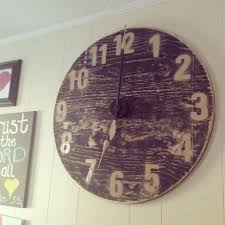 diy large wall clock cut wood circle clock kit from hobby lobby