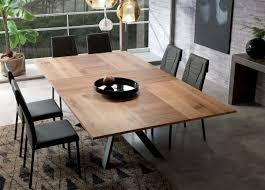 Large Extending Dining Table Ozzio 4x4 Extending Dining Table Ozzio Furniture At Go Modern