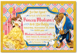 beauty and the beast princess belle birthday invitations di 620