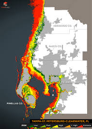 Map Of Clearwater Florida by 2015 Storm Surge Maps