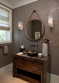 Powder Room Design Gallery Bright Penny Round Tile Backsplash 35 Installing Penny Round Tile