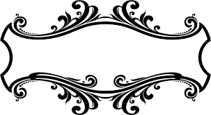clipart decorative ornamental flourish frame design