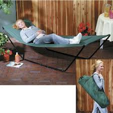 amazon com portable foldaway hammock with stand and carry bag