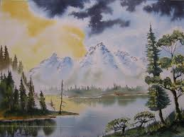 paint watercolours with colin walters mountain lake paint it