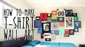 how to make t shirt wall art super easy youtube
