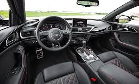 audi a6 interior at 2017 audi a6 in depth model review car and driver