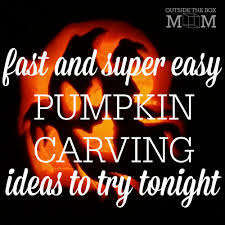 pumpkin ideas carving easy pumpkin carving ideas working mom blog outside the box mom