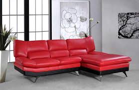 Red Sectional Sofas by Vg 4 Sectional Sofa Bright Red Leather Leather Sectionals