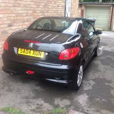 peugeot 206cc allure black 2 0 petrol 2004 mot july 2018 in
