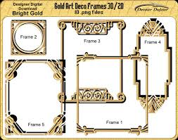 printable art deco borders 5 art deco frames borders gold art deco frames printable art